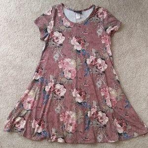 Super soft floral swing dress